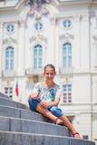Leuk meisje in Praag Royalty-vrije Stock Fotografie