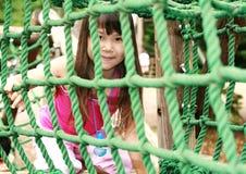 Leuk meisje in roze stock afbeelding