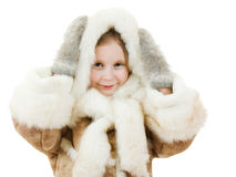 Leuk meisje in warme kleren royalty-vrije stock afbeelding