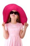 Leuk meisje in zonnebril stock foto's