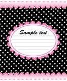 Leuk memorandummalplaatje met roze kant Stock Afbeelding