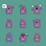 Leuk monsterkarakter - reeks Stock Illustratie