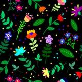 Leuk mooi bloemen abstract naadloos patroon royalty-vrije illustratie