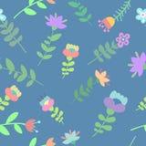 Leuk mooi bloemen naadloos patroon vector illustratie