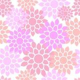 Leuk mooi bloemen naadloos patroon royalty-vrije illustratie