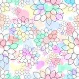 Leuk mooi bloemen naadloos patroon stock illustratie