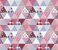 Leuk naadloos lapwerkpatroon Vectorillustratie van dekbed vector illustratie