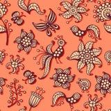 Leuk naadloos patroon royalty-vrije illustratie