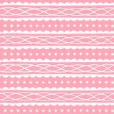 Leuk naadloos patroon met abstract ornament op zachte roze achtergrond Vector textuur Royalty-vrije Stock Foto