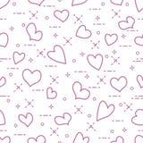 Leuk naadloos patroon met harten Valentine \ 's Royalty-vrije Stock Foto
