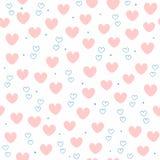 Leuk naadloos patroon met het herhalen van harten Eindeloze romantische druk vector illustratie