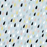 Leuk naadloos patroon met kleurrijke waterdalingen Kinderachtige textuur voor stof, textiel Vector illustratie vector illustratie