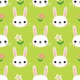 Leuk naadloos patroon met konijntjes stock illustratie