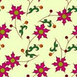 Leuk naadloos patroon met roze bloemen Royalty-vrije Stock Fotografie