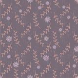 Leuk naadloos patroon met takjes en bloemen Royalty-vrije Stock Afbeelding