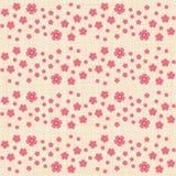 Leuk naadloos patroon met velen die bloemen herhalen royalty-vrije illustratie