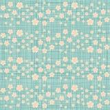 Leuk naadloos patroon met velen die kersenbloemen herhalen vector illustratie