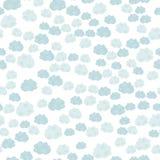 Leuk naadloos patroon met wolken Royalty-vrije Stock Afbeelding