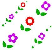Leuk naadloos patroon van bloemen zwart-witte kleur Royalty-vrije Stock Afbeeldingen