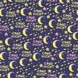 Leuk naadloos patroon voor baby met maan en sterren Goede nacht vector illustratie