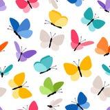 Leuk naadloos vlinderpatroon Stock Foto