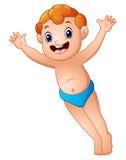 Leuk omhoog overhandigt weinig jongen stock illustratie
