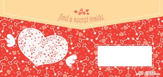 Leuk ontwerp voor groetkaart of envelop met Stock Foto
