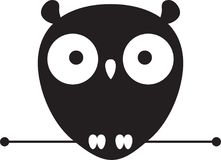 Leuk Owl Logo Royalty-vrije Stock Foto's