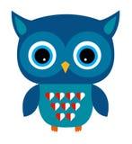 Leuk Owl Vector Boy met Hart Stock Afbeelding