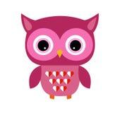 Leuk Owl Vector Girl met Hart Royalty-vrije Stock Afbeeldingen