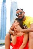 Leuk Paar in Doubai Stock Foto's