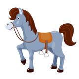 Leuk paard met zadel royalty-vrije illustratie