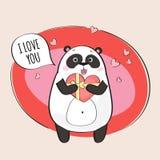 Leuk Panda Character Royalty-vrije Stock Afbeelding