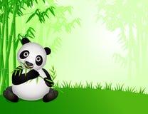 Leuk pandabeeldverhaal in de aard stock illustratie