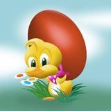 Leuk Pasen kuiken stock illustratie