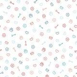 Leuk pastelkleurpatroon Naadloze mooie achtergrond Royalty-vrije Stock Afbeelding