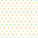 Leuk patroon met Pasen-decoratieeieren Stock Foto's