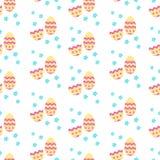 Leuk patroon met Pasen-decoratieeieren Stock Afbeelding
