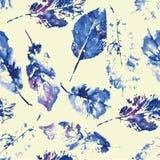 Leuk patroon van mooie drukken van bladeren stock foto