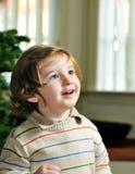 Leuk portret van weinig jongen die omhoog kijkt Royalty-vrije Stock Afbeeldingen