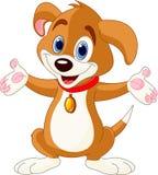 Leuk Puppy dat zijn handen opheft vector illustratie
