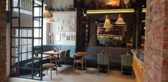 Leuk restaurant in Cluj stadsprovincie Zama met roustic gevoel en esthetisch decor royalty-vrije stock afbeelding