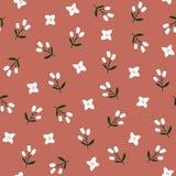 Leuk rood feestelijk de winter naadloos patroon met hand witte bloemen en bessen Kerstmis bloemenontwerp Vector vector illustratie