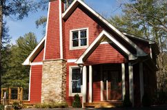 Leuk Rood Huis Stock Afbeelding