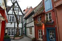 Leuk Schnoor-District in Bremen Duitsland royalty-vrije stock afbeeldingen