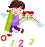 Leuk schoolmeisje Stock Foto