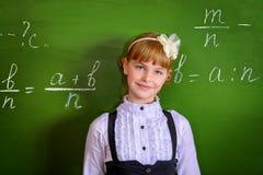Leuk schoolmeisje Stock Afbeelding
