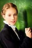 Leuk schoolmeisje Royalty-vrije Stock Foto's