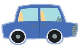 Leuk uitstekend blauw autostuk speelgoed Stock Illustratie