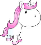 Leuk Unicorn Vector Royalty-vrije Stock Fotografie